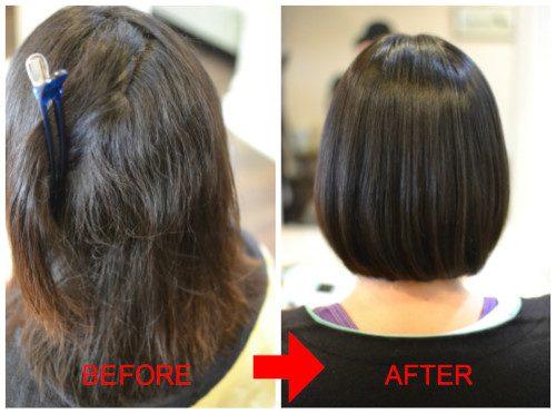 (R)「縮毛矯正していない風」な自然な丸みの縮毛矯正 ボブ