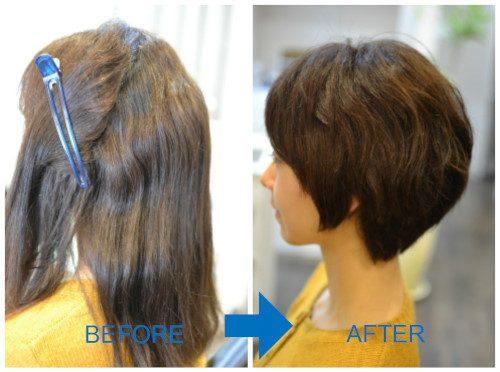 (R)成人式も終わったのでバッサリ♪初めてのくせ毛を活かしたショートヘア