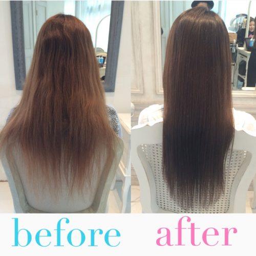 【髪質改善】カラーでバサバサに傷んだロングヘアを綺麗でツヤのある髪に