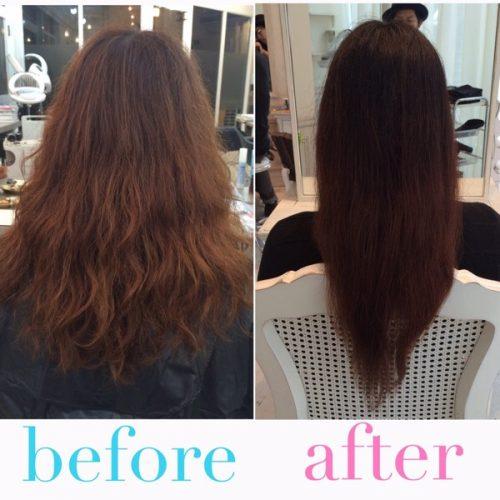 【髪質改善】パーマを繰り返して、バサバサになってしまった髪を綺麗で扱いやすい髪に