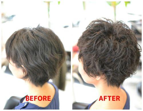 (R)くせ毛のタイプに合わせた長さ設定 と くせ毛ボーイッシュショート