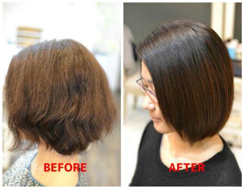 ビビリ修正後の経過:髪質改善の二つの役割