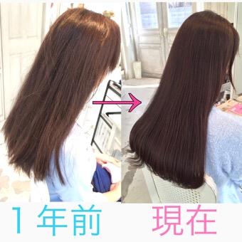 [髪質改善]成人式までに髪を綺麗にしたくて、1年通って頂いた結果
