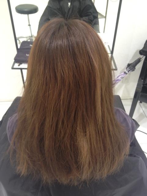 茨城県から高校生が髪を綺麗にしたくてご来店下さいました。