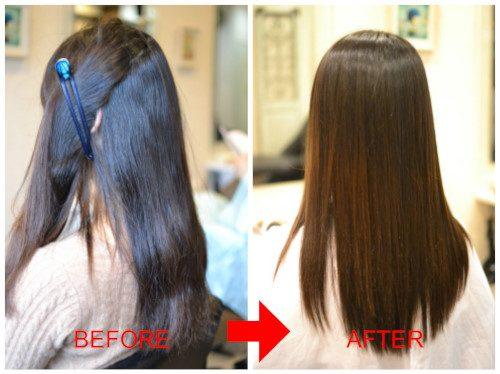 (R)縮毛矯正やヘアカラーなどのダメージと 残留物質の関係