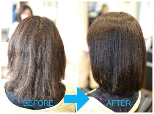 (R)縮毛矯正デジタルパーマの失敗 ビビり根折れかかりすぎの修正