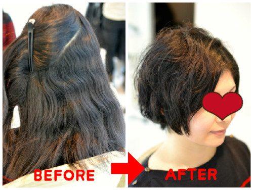 (R)髪の毛が多くて広がるくせ毛のカット