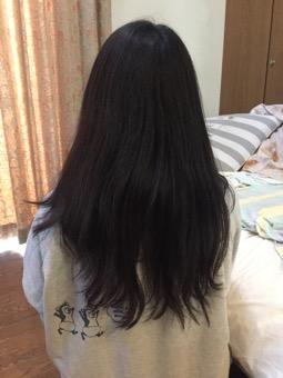 友人の髪をカット&スタイリング♪