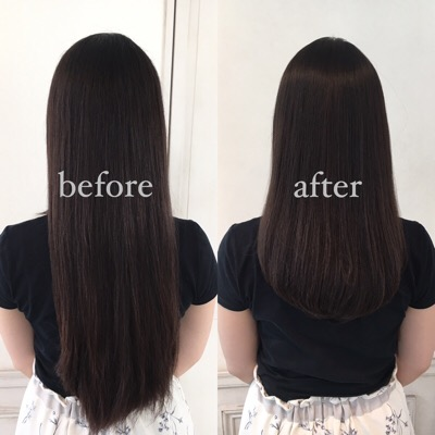 【縮毛矯正とカット】1年に1回の美容室だけで年中髪が綺麗にまとまる