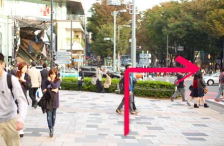 lilyへ原宿駅からのアクセス04