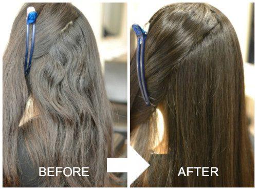 (R)ムラムラでも癖強な髪には薬剤と水抜きコントロールでナチュラルストレート