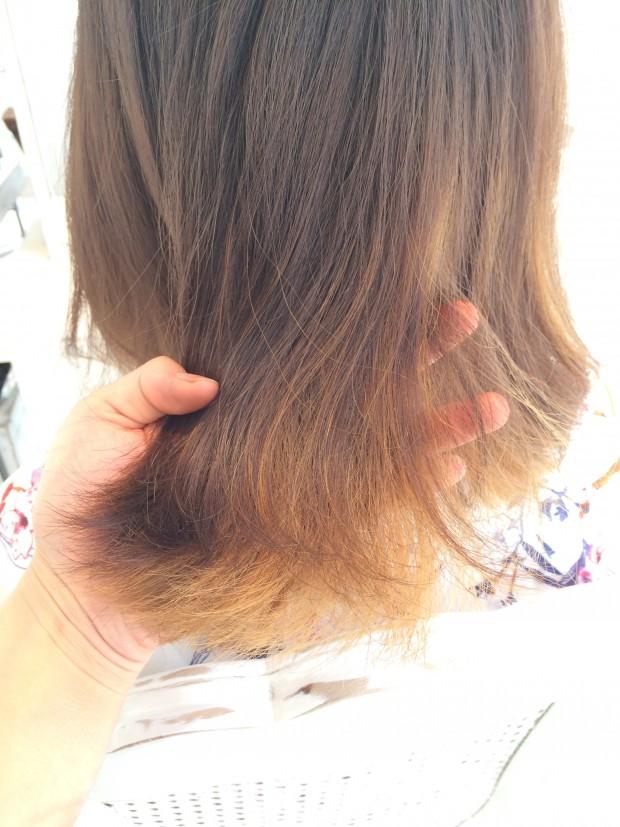 毛先、ブリーチ、傷んだ髪