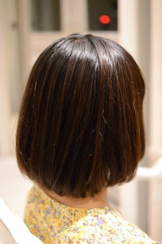 東京 縮毛矯正 内側 丸み ボブ