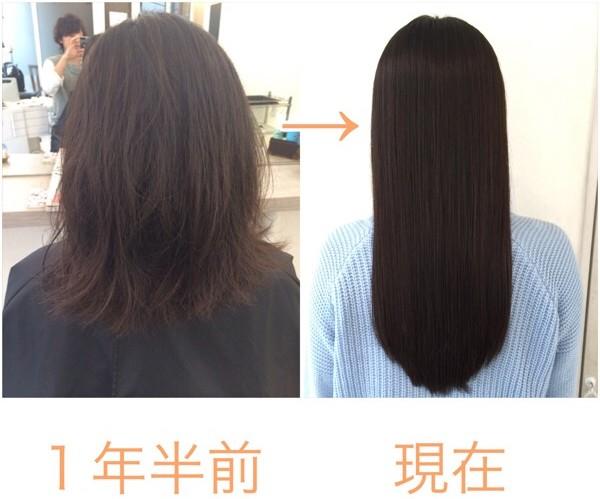 初めての縮毛矯正をしてから約1年半経過した髪はどうなっているのか?