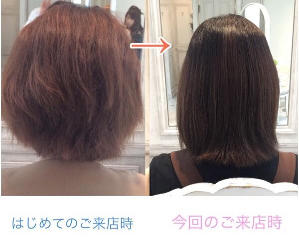 縮毛矯正、カラー、同時、失敗、どちらが先、違い、上手い、髪質