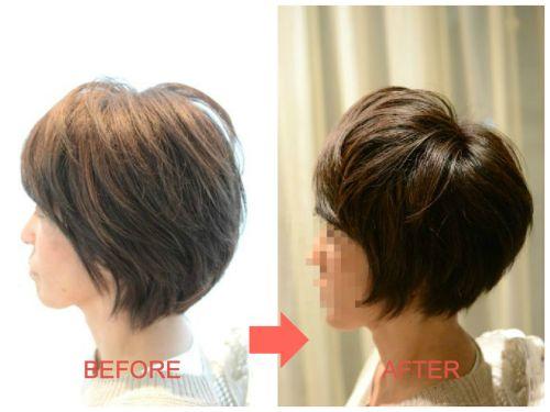 脱縮毛矯正から1年★お手入れ簡単!持ちの良いくせ毛ショートカット