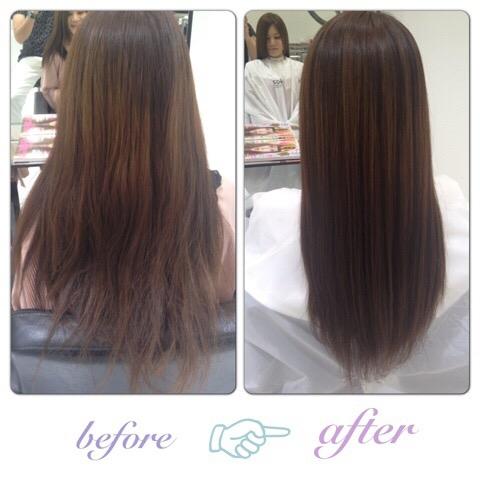 【髪質改善】サラサラで髪の毛も柔らかくなって髪質が変わりました。