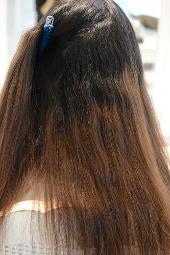 縮毛矯正 ボブ 内側 内巻き