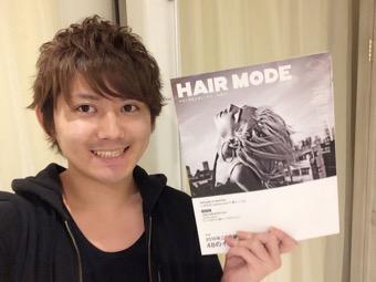 美容業界誌【HAIR MODE】に掲載されました。