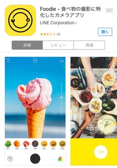 食べ物の撮影に特化したカメラアプリをランチで使ってみた。