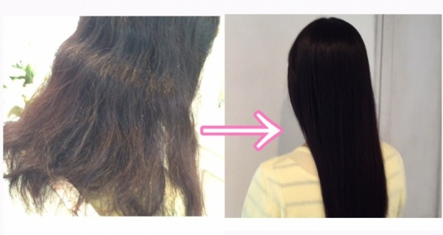 大嫌いなくせ毛が憧れストレートヘアに大変身【動画で違いをご覧下さい】