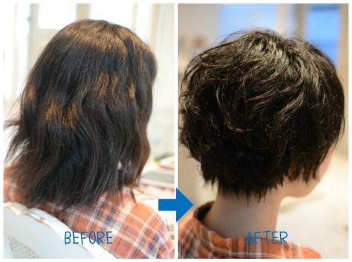 【脱・縮毛矯正】1年半後のくせ毛カット