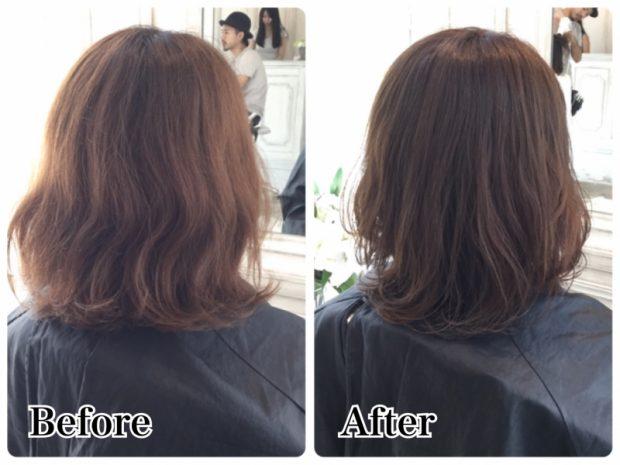 ダメージでカラーが褪色してしまう方への髪質改善【パーマヘア編】