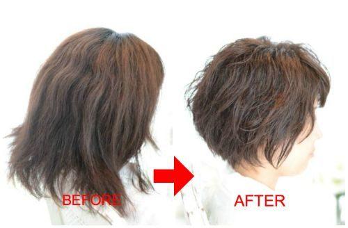 【脱縮毛矯正】ゴワゴワ広がりやすいくせ毛のショートカット