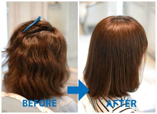 ボワっと広がりやすい多毛くせ毛に縮毛矯正