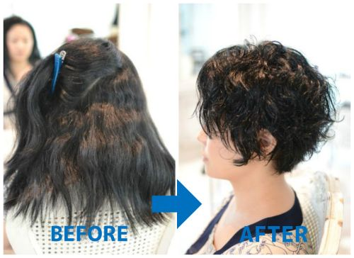 【脱縮毛矯正】チリチリ・ジリジリな多毛剛毛広がる髪のくせ毛カット