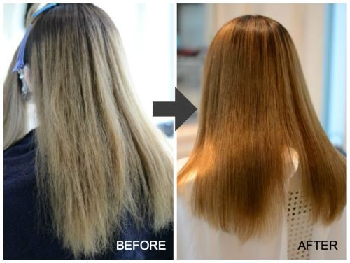 ダブルブリーチ&縮毛矯正ビビリ毛の誤魔化し施術