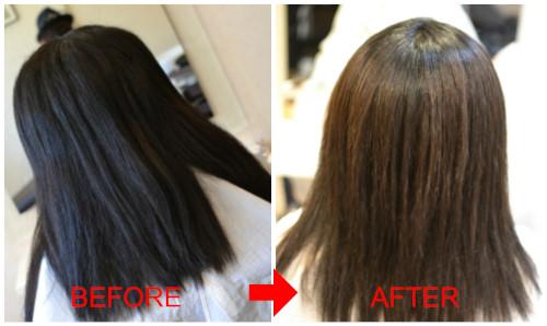(R)超多毛捻転毛のカットと縮毛矯正。