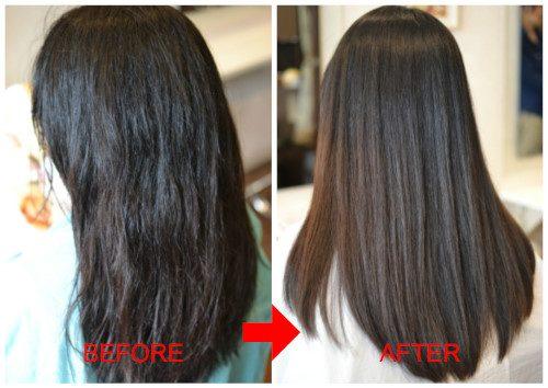 (R)被膜(トリートメント)に隠れた本来の髪の状態。