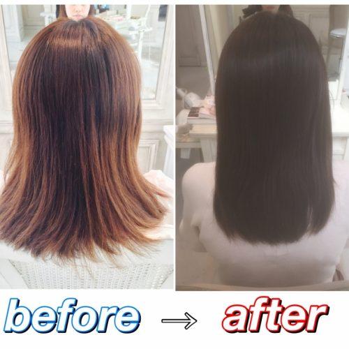 【髪質改善】繰り返しのカラーリング・ハイライトによる髪の傷みを綺麗で扱いやすい髪に☆