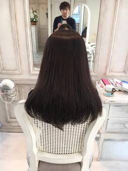 【髪質改善の効果】自然乾燥でもサラサラになるほで、綺麗な髪になりました。