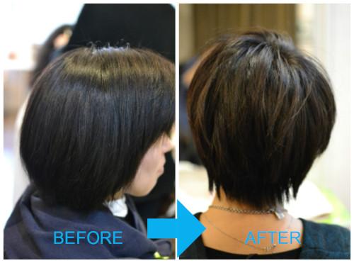 (R)髪が多いひとでもショートヘア♪
