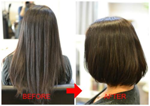(R)ストカールなら縮毛矯正毛ロングヘアのばっさりも安心
