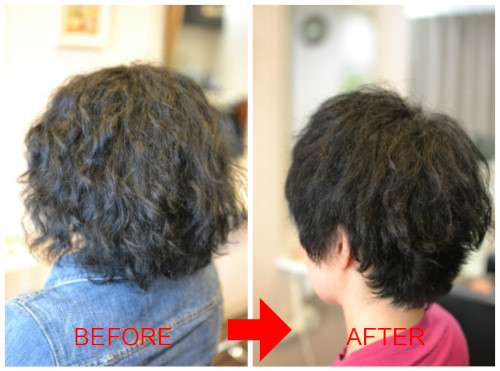 (R)癖強 捻転 多毛 くせ毛カットでこうなる。