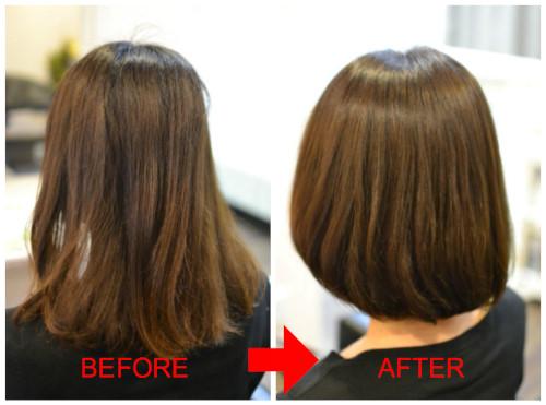 (R)くせ毛を扱いやすく伸ばす 酸性縮毛矯正 ボブ