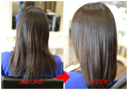 (R)履歴が見えず塗り分け困難毛には弱酸性縮毛矯正がマスト