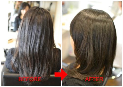(R)根元アルカリ毛先酸性ストカールでピンピン不自然な縮毛矯正退治