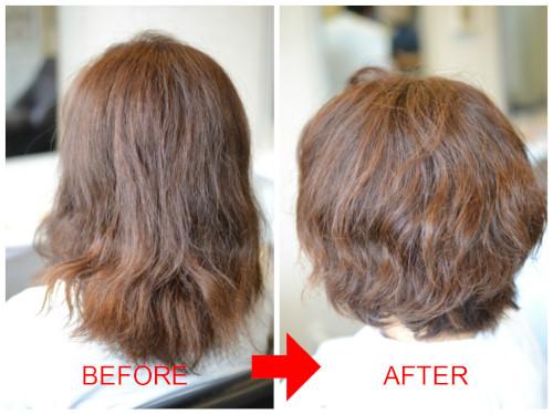 (R)くせ毛を殺す縮毛矯正 から くせ毛を上手く活かしたショートボブにチェンジ♪