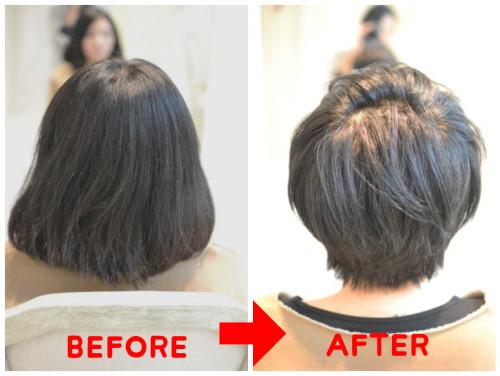 (R)頭が大きく見えないショートヘアの作り方