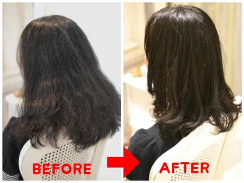 (R)チリチリくせ毛を痛ませて艶を出す