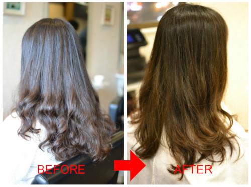 (R)縮毛矯正をかけた髪の毛にゆるふわワンカールパーマは難しい???