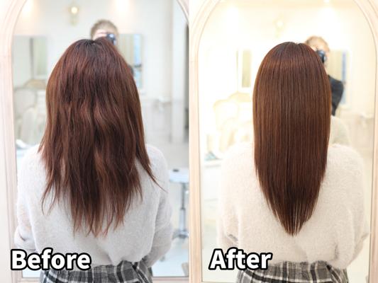 髪が広がる・ツヤがない・くせっ毛でお悩みの髪を髪質改善で美髪に