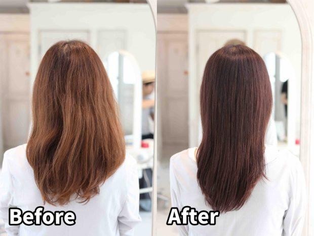 髪の毛のダメージで色が抜けちゃう方の髪質改善