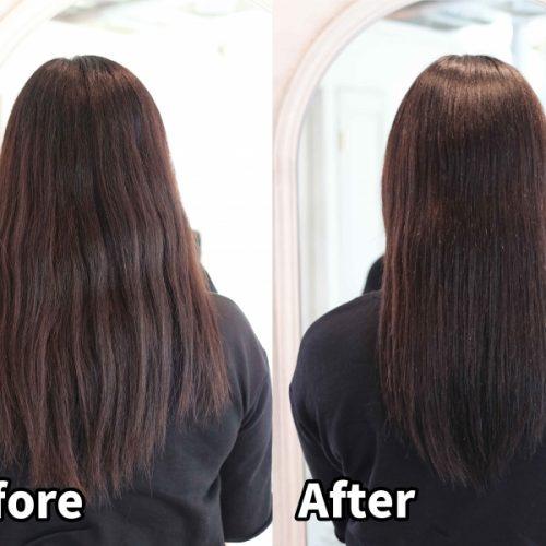 【髪質改善】髪の広がりを抑えると見た目が変わる