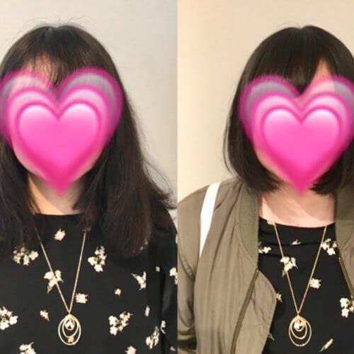 くせ毛で広がりがひどく、ショートにして髪を下ろすことが私の夢です。