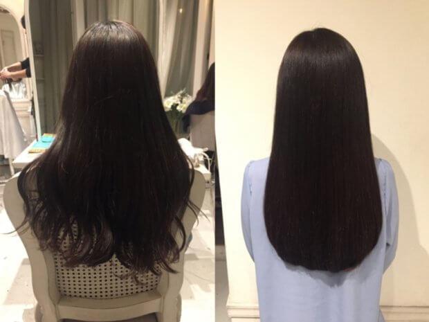 【髪質改善】諦めていた太い毛がまるでシルクのようなサラツヤ美髪に!